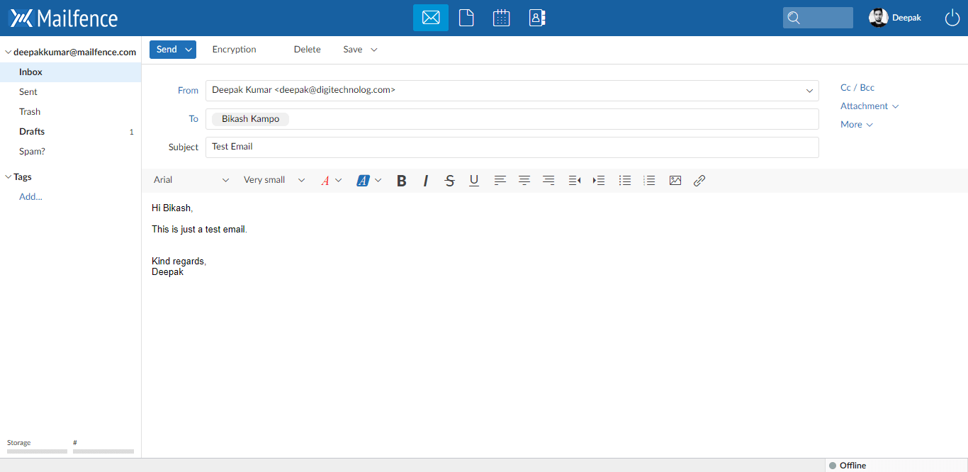 Mailfence-New-Email