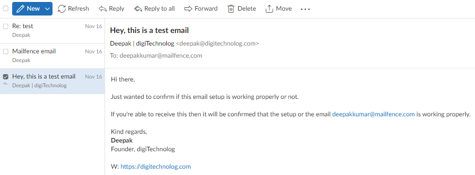 Mailfence-Email-Interface