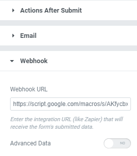 Add Webhook to Elementor Form