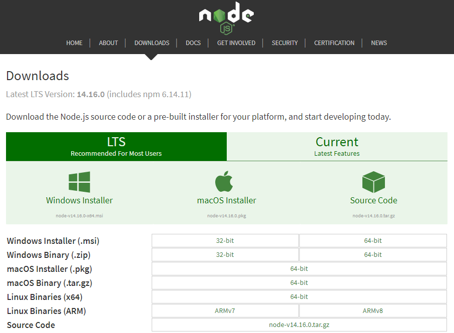 Install Node.js on your computer