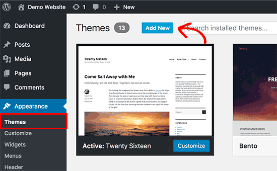 Add new theme to Your WordPress Website or Blog