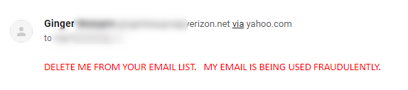 Unsubscribe me from your list