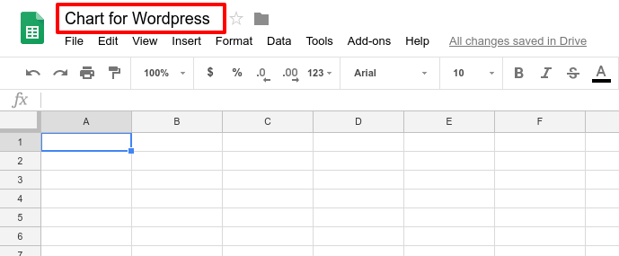 Charts for WordPress from Google Sheets
