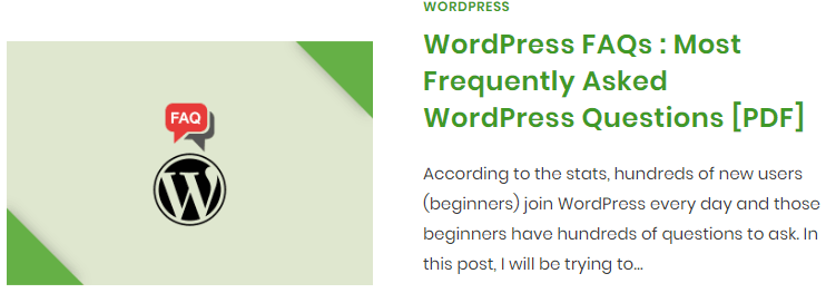 WordPress FAQs - Frequently Asked WordPress Questions