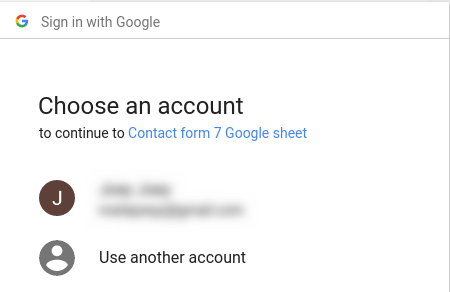 Authorize CF7 with Google Sheet