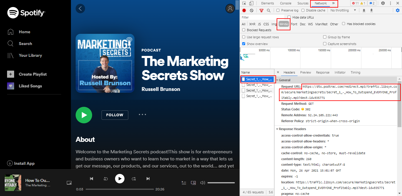 Convert Spotify Podcasts to Text