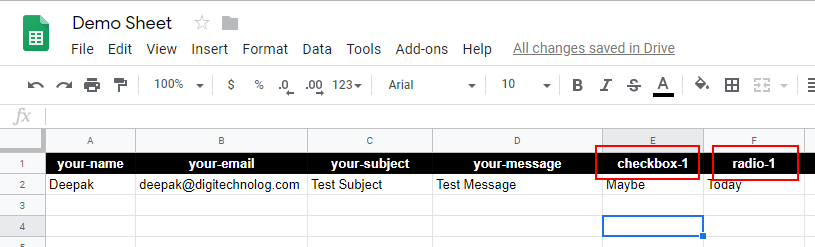 Checkbox and Radio Buttons in Google Sheets
