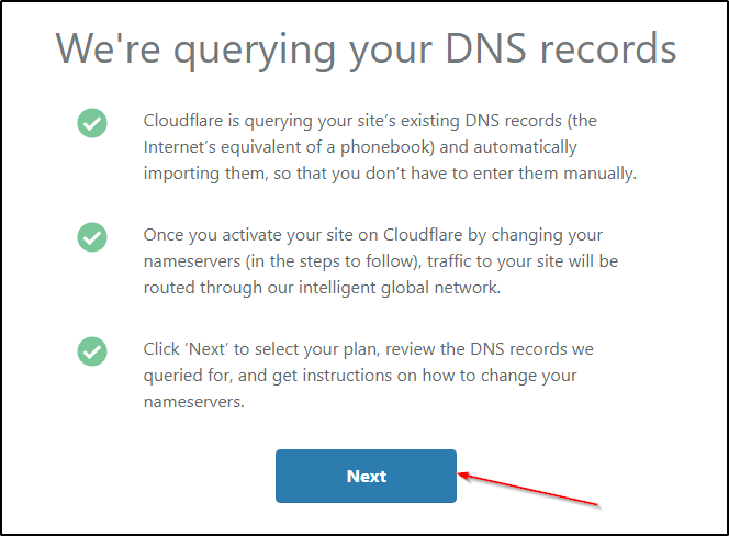 cloudflare will query your domain's dns