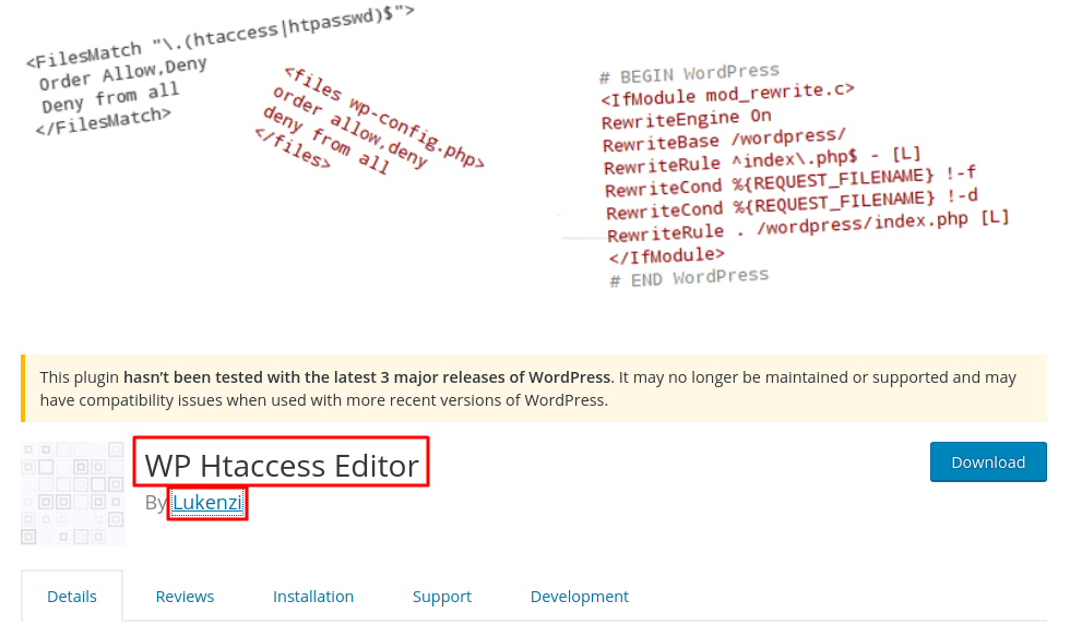 Edit Htaccess inside the WordPress itself