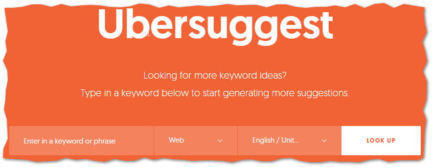 UberSuggest the Best FREE Keyword Research Tool